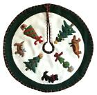 New World Arts Dogs and Topiary Trees Christmas Tree Skirt