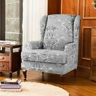 Subrtex Wing Chair Slip Cover Wingback Covers Printed Armchair Stretch Protector