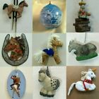 HORSE DONKEY ORNAMENTS each priced separately MANY CHOICES Unicorn Mule Burro
