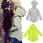 Toddler Baby Kids Boy Dinosaur Hoodies Jacket Coat Zipper Sweatshirt Outwear Top
