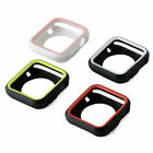 2 Tone Rugged Series 5 Bumper Case  Glass Screen Protector Cover Apple iWatch
