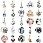 European Silver Charms Animal Beads Xmas Gift CZ Pendant Fit 925 Bracelets Chain image