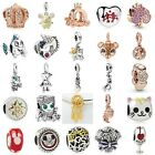 European Silver Fine Charms Beads Xmas Gifts CZ Pendant Fit 925 Bracelets Chain image