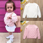 Cute Toddler Kids Baby Girls Solid Sweater Long Sleeve Knit Tops Warm Clothes US