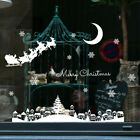 Merry Christmas Art Home Window Store Wall Stickers Decal Decor Removable Uk