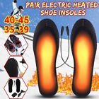 Rechargeable Heated Insoles Foot Warmer Heater USB Shoes Pad Boots Charging US