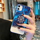 Glossy Snowflake Flower w PO UP Holder Case Cover for iPhone 11 Pro Max X XR 7/8