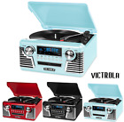 Victrola Turntable RED 3-Speed Record Player to Bluetooth Radio PICK COLOR