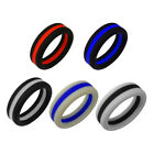 Thin Blue Line and Thin Red Line - Silicone ring wedding band