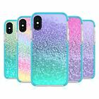 MONIKA STRIGEL GLITTER COLLECTION BLUE SHOCKPROOF BUMPER CASE FOR iPHONE PHONES