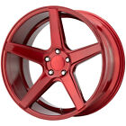 """4-KMC KM685 District 20x9 5x4.5"""" +35mm Candy Red Wheels Rims 20"""" Inch $1111.96 USD on eBay"""