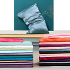 2pcs Mulberry Silk Pillowcase Soft Satin Pillow Cases Cushion Cover Home Bedding image