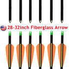 "28-32""inch Safety Fiberglass Arrows Youth Archery Hunting Target Practice Arrows"