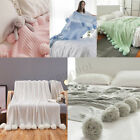 40x41'' Knitting Blanket Cute Pom Pom Sofa Throw Bedroom Comfort Sleep Quilt A+ image