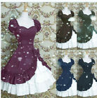 Gothic Girls Princess Lolita Dress Lace Steampunk Party Dresses Cosplay Costume