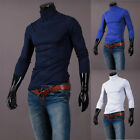 Men's High Neck Pullover Jumper Tops Casual Long Sleeve Sweater T Shirts 2020