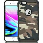 For Apple iPhone 7/7 Plus/8/8 Plus Camo High Quality Design Hard TPU Hybrid Case