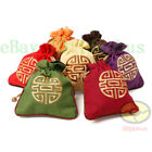 1/2/3/5/10PCS embroidered Double Happiness Linen Drawstring Pouch Purse Coin Bag