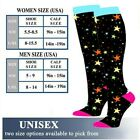 Long Socks Compression Sports Knee High Christmas Printed Calf Support Stockings