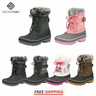 DREAM PAIRS Kids Boys Girls Winter Snow Boots Mid Calf Waterproof Warm Boots
