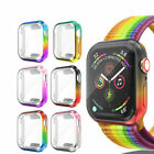 For Apple Watch Series 6 5 4 3 Colorful Full Screen Protector Protect Case Cover