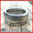 Handmade Morgan Silver Dollar Coin Ring 'eagle' Silver Plated In Sizes 8-16 rare