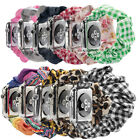 Band Bracelet Printed Fabric Strap Scrunchie Elastic For Apple Watch 5 4 3 2 1 image