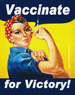Vaccinate for Victory BUMPER STICKER or MAGNET pro vaccination decal 4.25x5.5""