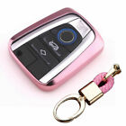 TPU REMOTE SMART KEY COVER FOB CASE SHELL+KEYCHAIN FIT FOR BMW I3 I8 SERIES
