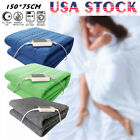 60w Non-woven Fabric Electric Heated Blanket Throw Over Under Bed Warm  image