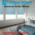 BLACKOUT ROLLER BLINDS IN 30 DIFFERENT COLOURS BLUES PINKS WHITE GREY OR CREAM