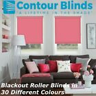 BLACKOUT ROLLER BLINDS In 30 DIFFERENT COLOURS*PINK, GREEN, YELLOW, GREY, WHITE*
