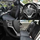 Premium Leatherette Seat Covers Full Set Black w/ Black Steering Cover For Auto $268.97 USD on eBay