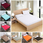 Fitted Sheets Bed Sheet Bedding Cover Deep Pocket Comfort Solid Pillow Case image