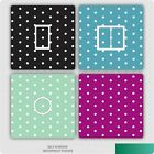2 X Polka Dots Pattern Uk Light Switch Stickers, Kitchen Living Room Decorating