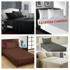 Egyptian Comfort 1900 Series Flat Bed Sheets Full,Queen King Size Bed Top Sheet image