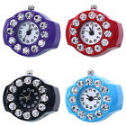 Ring Watch Stylish Stainless Steel Round Quartz Finger Ring Watch Lady Girl Gift image