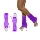 Tutu 80's Fancy Dress Outfit Skirt Beads Legwarmers Gloves Hen Party Costumes