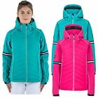 Trespass Womens Ski Jacket Padded & Windrproof Snow Coat in Pink & Green