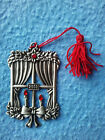 AVON Pewter Choose Your Christmas Ornament w/ Felt Bag and Box Excellent