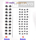 EYES STICKERS 3D OJOS MODEL#O3  AUTOADHESIVOS,PORCELAIN,CLAY,FOAM flexyble clay image