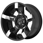 XD811 Rockstar 2 17x8 6x135 6x55 +10mm Black Chrome Wheel Rim 17 Inch
