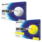 2018 TaylorMade Distance Plus Golf Balls 1 Dozen Yellow NEW