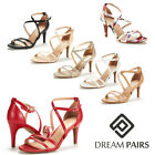 Kyпить Women's Open Toe Cross Strappy Sandals Heels Ankle Strap Wedding  Dress Shoes US на еВаy.соm
