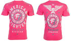 American Fighter Mens S/S T-Shirt MADISON Athletic NEON PINK Biker S-3XL $40 image