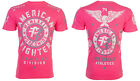 American Fighter Short Sleeve T-Shirt Mens MADISON Neon Pink S-3XL $40 NWT image