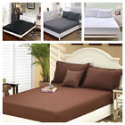 1900 Count Wrinkle Free Fitted Bed Sheet  King, Queen, Twin, Full Size image