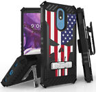 Rugged Tri-Shield Case + Belt Clip for LG Xpression Plus 2 - Patriotic Series