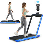 2-in-1 Folding Treadmill 2.25HP Heavy Duty Electric  Running Fitness Machine