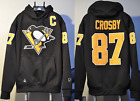Sidney Crosby Pittsburgh Penguins NHL Jersey Hooded Sweatshirt Embroidered $89.0 USD on eBay